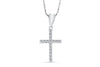 Diamond Cross Pendant 0.26 CT TW 14K White Gold DPEN017 - NorthandSouthJewelry