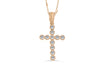 Diamond Cross Pendant 0.51 CT TW 14K Rose Gold DPEN020