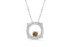 Chocolate Diamond Pendant 0.37 CT TW 14K White Gold DPEN048 - NorthandSouthJewelry