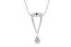 Chocolate Diamond Pendant 0.47 CT TW 14K White Gold DPEN050 - NorthandSouthJewelry