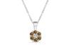 Cluster Chocolate Diamond Pendant 0.31 CT TW 14K White Gold DPEN053 - NorthandSouthJewelry