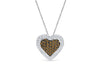 Chocolate Diamond Heart Pendant 0.80 CT TW 14K White Gold DPEN054 - NorthandSouthJewelry