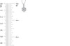 Cluster Diamond Pendant 0.65 CT TW 14K White Gold DPEN025 - NorthandSouthJewelry