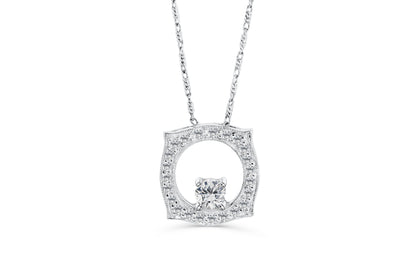 Diamond Pendant 0.46 CT TW 14K White Gold DPEN026 - NorthandSouthJewelry