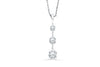 Three-Stone Diamond Drop Pendant 0.72 CT TW 14K White Gold DPEN033 - NorthandSouthJewelry