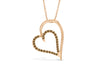 Chocolate Diamond Heart Pendant 0.26 CT TW 14K Rose Gold DPEN037