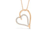 Diamond Heart Pendant 0.29 CT TW 14K Rose Gold DPEN039