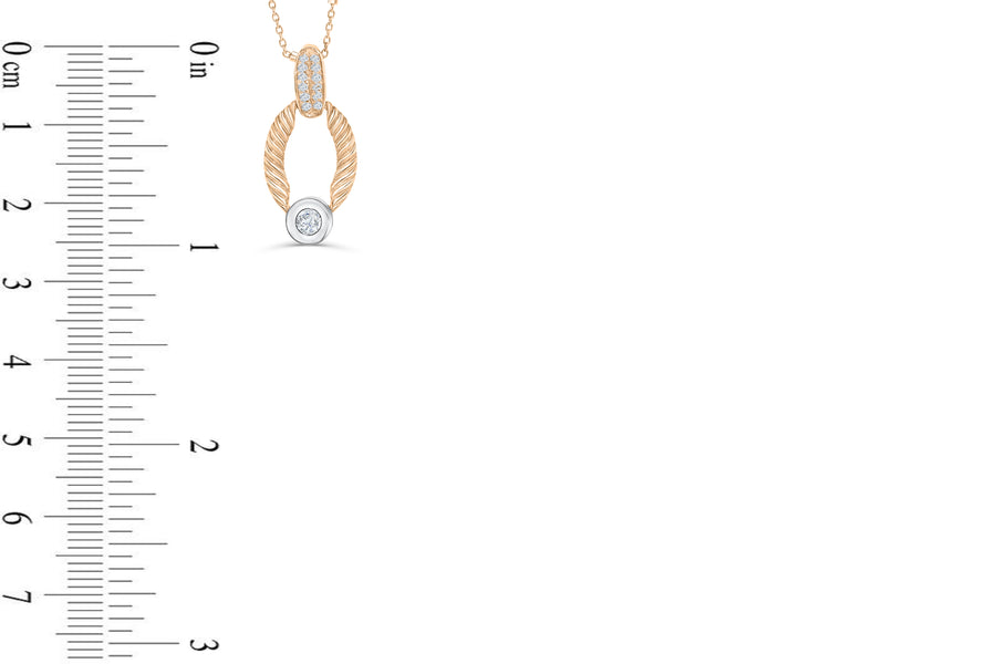 Diamond Pendant 0.33 CT TW 14K Rose Gold DPEN040