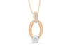 Diamond Pendant 0.33 CT TW 14K Rose Gold DPEN040 - NorthandSouthJewelry