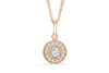 Halo Solitaire Diamond Pendant 0.31 CT TW 14K Rose Gold DPEN041