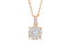 Halo Solitaire Diamond Pendant 0.50 CT TW 14K Rose Gold DPEN042