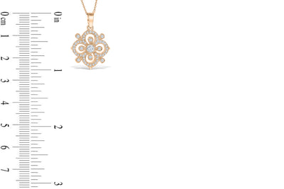 Diamond Pendant 0.68 CT TW 14K Rose Gold DPEN043 - NorthandSouthJewelry