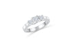 Three Stone Diamond Engagement Ring 0.60 ct tw 14K White Gold DENG055 - NorthandSouthJewelry