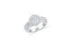 Diamond Engagement Ring 1.35 ct tw 14K White Gold DENG056 - NorthandSouthJewelry