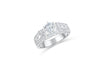 Diamond Engagement Ring 1.52 ct tw 14K White Gold DENG057 - NorthandSouthJewelry