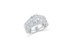 European Shank Diamond Engagement Ring Set 1.55 ct tw 14K White Gold DENG058 - NorthandSouthJewelry