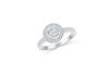 Diamond Engagement Ring 0.88 ct tw 14K White Gold DENG060