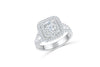 V Split Diamond Engagement Ring 1.63 ct tw 14K White Gold DENG062 - NorthandSouthJewelry
