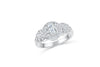 Diamond Engagement Ring 0.99 CT TW 14k White Gold DENG065 - NorthandSouthJewelry