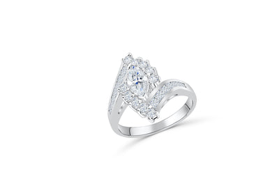 Marquise Diamond Engagement Ring 1.41 CT TW 14K White Gold DENG066