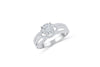Diamond Engagement Ring 0.95 ct tw 14K White Gold DENG032