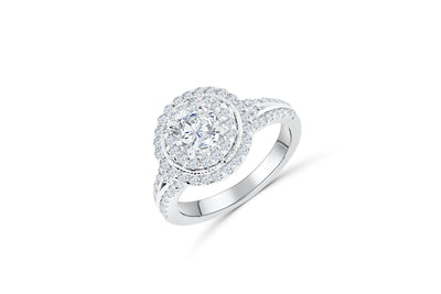 Diamond Engagement Ring 1.71 ct tw 14K White Gold DENG033