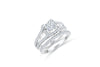 Princess Cut Diamond Engagement Ring Set 1.95 ct tw 14K White Gold DENG044 - NorthandSouthJewelry