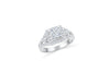 Princess Cut Diamond Engagement Ring 1.51 ct tw 14K White Gold DENG045 - NorthandSouthJewelry