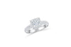 Princess Cut Diamond Engagement Ring 1.34 ct tw 14K White Gold DENG046