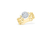 Two Toned Diamond Engagement Ring 0.76 ct tw 14K Yellow/White Gold DENG050
