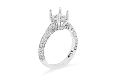 Iris 3D Engagement Setting (Setting Only) 1.18 ct tw 14K White Gold ESET006