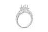 Vintage Nature Inspired Halo Engagement Setting (Setting Only) 0.68 ct tw 14K White Gold ESET007