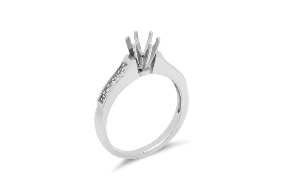 Channel Set Engagement Setting (Setting Only) 0.35 ct tw 14K White Gold