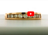 Diamond Anniversary Band 0.57 ct tw Round-cut 14K Rose Gold BAN018 - NorthandSouthJewelry