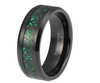8mm Tungsten-Carbide Carbon Fiber Green Black Celtic Dragon
