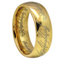 "6mm Tungsten-Carbide Classic Dome Laser Engraved ""Lord of the Rings"""