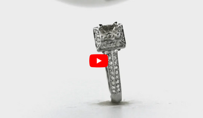 Princess Cut Diamond Engagement Ring 1.34 ct tw 14K White Gold DENG046 - NorthandSouthJewelry