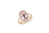 4.19 CT Oval Morganite Diamond Ring 0.68 CT TW Diamonds 14K Rose Gold MGR002 - NorthandSouthJewelry