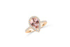 1.57 CT Pear Morganite Diamond Ring 0.45 CT TW Diamonds 14K Rose Gold MGR003 - NorthandSouthJewelry