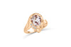 1.86 CT Pear Morganite Diamond Ring 0.03 CT TW Diamonds 14K Rose Gold MGR005 - NorthandSouthJewelry