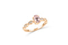 0.70 CT Oval Morganite Diamond Ring 0.13 CT TW Diamonds 14K Rose Gold MGR006 - NorthandSouthJewelry