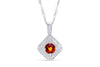 1.07 CT Pave Orange Sapphire Diamond Pendant OSPEN001 - NorthandSouthJewelry