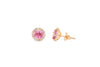 1.90 CT Pink Sapphire Earring 0.31 CT TW Diamonds 14K Rose Gold PSER003