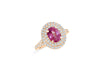 1.85 CT Oval Pink Sapphire Diamond Ring 0.68 CT TW 14K Rose Gold PSR001 - NorthandSouthJewelry