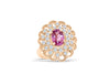 1.89 CT Oval Pink Sapphire Diamond Ring 0.76 CT TW 14K Rose Gold PSR003 - NorthandSouthJewelry
