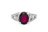 2.74 CT Oval Pink Tourmaline Diamond Ring 0.56 CT TW 14K White Gold PTR006 - NorthandSouthJewelry
