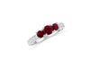 0.68 CT Ruby Diamond Ring 0.11 CT TW 14K White Gold RBR001 - NorthandSouthJewelry
