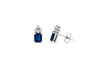 2.05 Emerald Cut Blue Sapphire Earring 0.20 CT TW Diamonds 14K White Gold SER002 - NorthandSouthJewelry