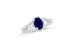 1.43 CT Oval Sapphire Diamond Ring 0.42 CT TW 14K White Gold SPR003 - NorthandSouthJewelry