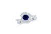 1.04 CT Sapphire Diamond Ring 0.53 CT TW 14K White Gold SPR004 - NorthandSouthJewelry
